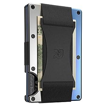 The Ridge Wallet Authentic | Minimalist Titanium Metal RFID Blocking Wallet with Cash Strap | Wallet for Men | RFID Minimalist Wallet Slim Wallet  Burnt Titanium