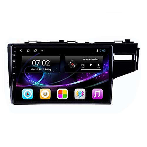 MGYQ Android Car Navigation Stereo with Rear Camera - Car Entertainment Multimedia Radio, for Honda FIT JAZZ (Right) 2014-2018 Support SD Wifi/Bluetooth/FM Radio/1080P Video,Quad core,WIFI 1+16