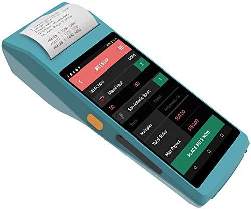 Escáner PDA, 4G Rugged Handheld Android 5.1 POS Terminal, 5.5in Pantalla táctil BT GPS Cámara NFC WiFi 2D Escáner de código de barras, para envíos Almacén Minorista Gestión de inventario, Azul ,La ges
