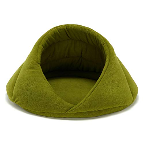 Kingus Soft Hundebetten Hund Katzen Schlafsack Nest Höhlenbett Kissen Winter Warm Pet House, Fruchtgrün M #, Größe 3
