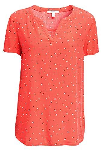 ESPRIT Damen 040EE1F338 Bluse, 645/CORAL, 42