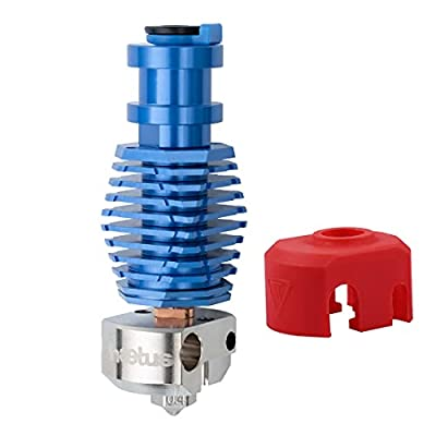 Up to 500℃ All Metal Dragonfly HOTEND Bimetal Heatbreak with Plated Copper Heater Block Nozzle for Upgrade V6 Hotend Prusa i3 MK3 MK3S BMG Extruder Titan Extruder 3D Printer (BM0)
