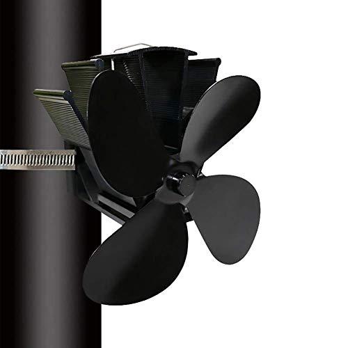 Estufa Ventilador Actualización Operación Silenciosa 4 Cuchillas Calor Accionado para Leña/Estufa de Leña/Estufa/Chimenea - Respetuoso del Medio Ambiente