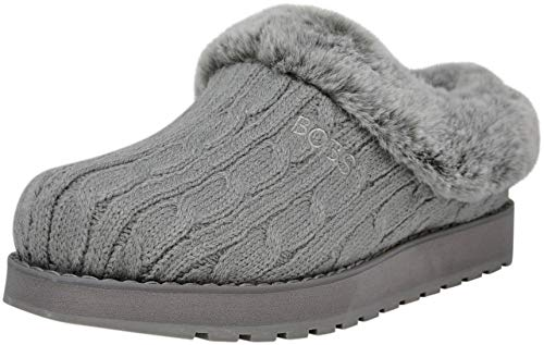 Skechers BOBS Women's Keepsakes Delight Slipper, Grey, 9 M US