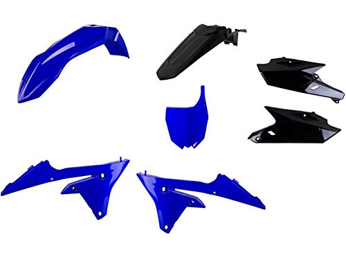 Motodak Kit Plastiques POLISPORT Bleu/Noir Yamaha YZ250/450F