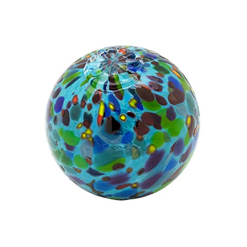 Teal Magic Mix Pond Floats - Available in 3 inches, 4 inches, 5 inches & 6 inches - Blown Glass - Made in Seattle - Dehanna Jones