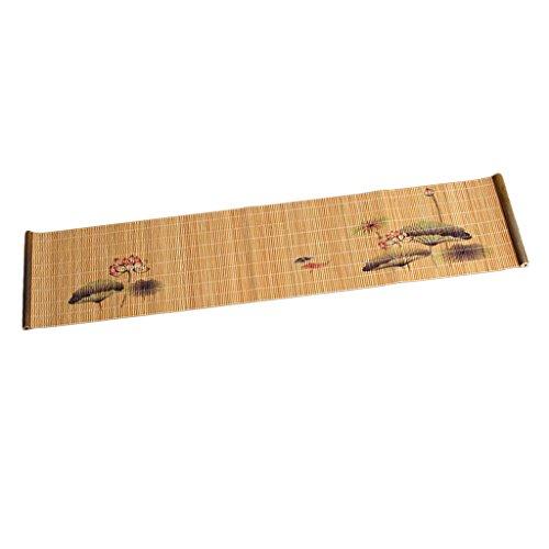 Homozy novos bandejas de chá de bambu bandejas de chá copos de porta copos cerimônia de chá accessaries - dia do lótus # 1 do dia