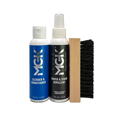 Shoe MGK Shoe Cleaner Kit - Water & Stain Repellent Plus Shoe Cleaner/Conditioner Cleaning Kit For Athletic Shoes, Tennis Shoes & Sneakers
