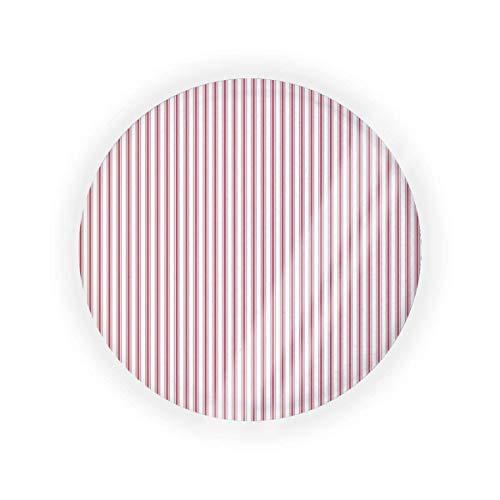 Materasso Ticking a strisce strette bandiera USA rosso e bianco vuoto cuscino aria cuscino puff box cuscino patto cosmetico trucco caso BB CC liquido crema fondotinta contenitore