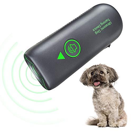 Ultrasuoni per Cani, Ultrasuoni Dispositivo di Controllo Anti-Abbaiamento, Portatile per Abbaiare Il Cane con LED, Antiabbaio Sicuro e per Addestramento Umano per Cani di Piccola e Grande Taglia