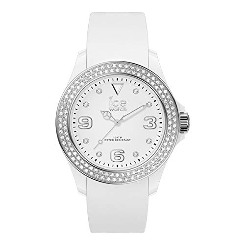 Ice-Watch - ICE Star White Silver - Witte dameshorloge met siliconen armband - 017231 (medium)