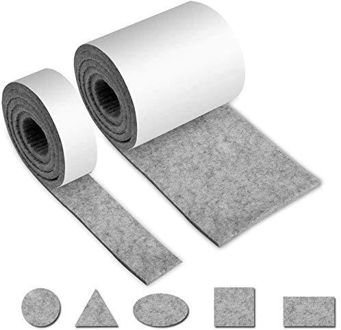 Almohadillas Muebles Madera Adhesivos Antideslizante de Fieltro Protector de Muebles Antideslizante Protector Sillas Patas 4mm 5 pièces 1,2/2,5/3/5/10 cm, largo:100 cm Negro