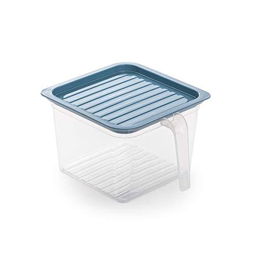 YUMEIGE Caja de almacenamiento de cosméticos Refrigerador Caja de almacenamiento de fresco fresco, huevo de gran capacidad, vegetales, alimentos, congelados, sellados, organizador de almacenamiento de