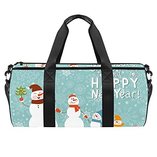 Bolsa de gimnasio separada húmeda, temática de Navidad, bolsa de deporte para gimnasio, bolsa de viaje durante la noche