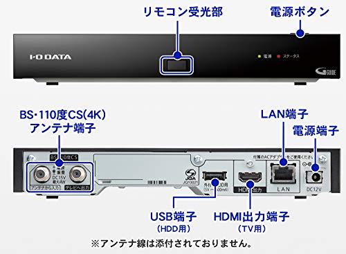 I-ODATA4KチューナーBS/CS外付けHDD録画リモコン付土日サポート1年保証HVT-4KBC/E