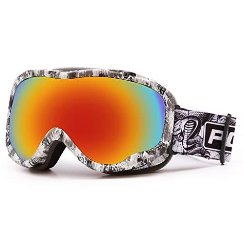 FSJKZX Gafas De Esquí Profesional Doble Capa Anti-Niebla Polarizadas Polarizadas Hombres Y Mujeres Montañismo Al Aire Libre Ski Goggles Coca Myopia Gafas (Color : C, Size : 185 * 90mm)