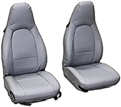 Iggee Grey Artificial Leather Custom Made Original fit Front seat Covers Designed for Porsche 911 928 944 968 1985-1998