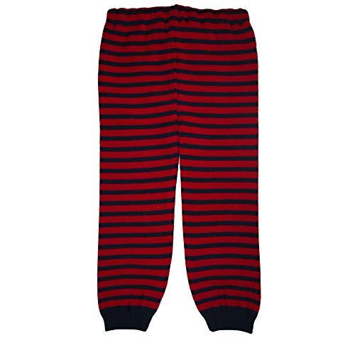 iobio 100% Wolle Gestrickt Leggings (Dunkelblau-Beere, 74/80)