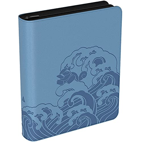 Rayvol 9-Pocket Trading Card Binder, Fits 900 Cards with 50 Removable Sleeves, Card Collector Album Holder- Aquablue