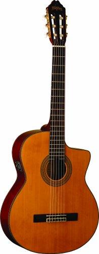 Washburn C64S CE - Guitarra electroacústica (con cuerdas de nailon)