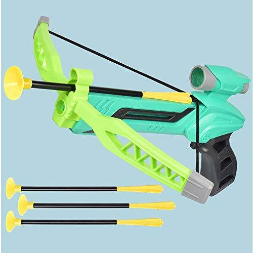 Children's Pijl en Boog Toy Simulatie, wordt geleverd met pijl en boog Richten Magnifier, Geschikt voor sportopname kinderen ouder dan 3 jaar,Green
