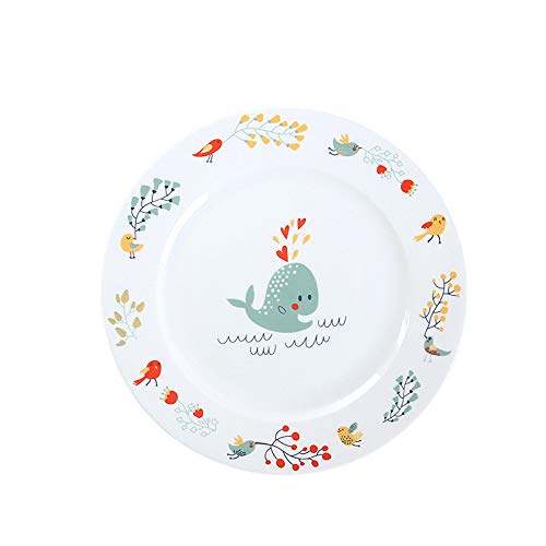 Creative Round Western Food Plate 8 pulgadas Cartoon Ceramic Plate Vajilla Restaurante Bowl Plate Microondas Horno disponible Glaseado Color Placa de cerámica Steak House Placa de cerámica