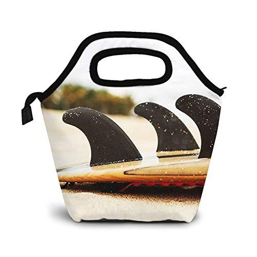 Bolsa Térmica Comida Bolsas De Almuerzo para Mujeres Hombres Niñas Niños Bolsa Isotérmica De Almuerzo Aletas de tabla de surf
