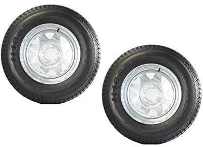 2-Pk Trailer Tire Rim ST205/75D15 F78-15 205/75-15 5 Lug Galvanized Spoke Wheel