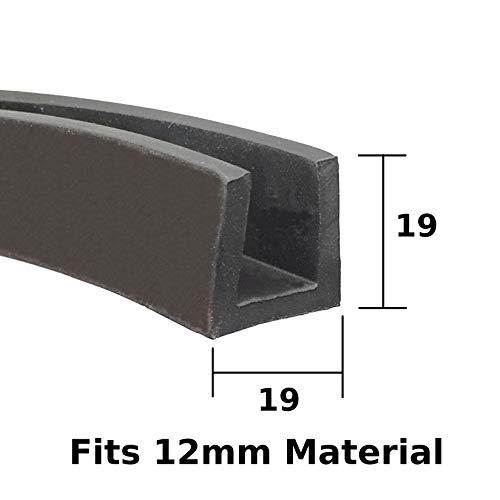 Eckige Ecken-Schutzleiste aus EPDM, 19 mm x 19 mm, für 12 mm