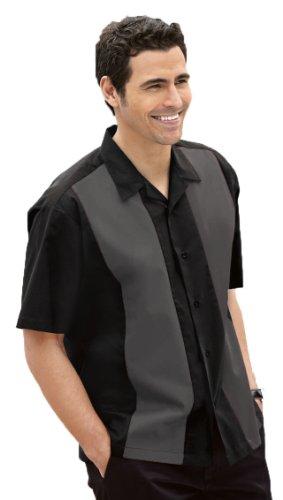 Port Authority Retro Camp Shirt (S300) Black/Steel Grey, 2XL