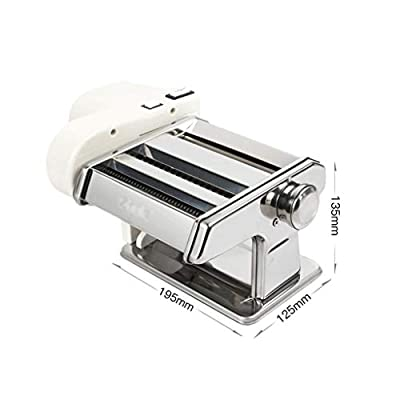 Pasta Maker Noodles Machine Electric Manual All-in-one, 7 Thickness Settings for Fresh Fettuccine Spaghetti Lasagne Dough Roller Press Cutter Noodle Making Machine (Size : All-in-one)