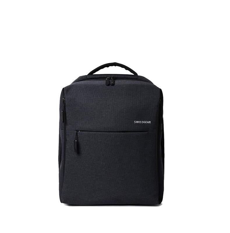 极简都市双肩包多功能学生书包电脑包男女时尚商务包 (黑色)