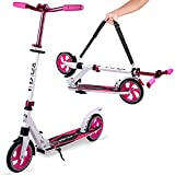 VOKUL Folding Kick Scooter for Adults and Kids, Scooter for Kids Ages 6-12 Scooters for Teens 8 Years and Up Commuter Scooters with Quick Release Folding System