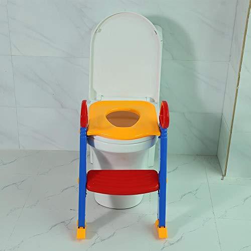 SOULONG Plegable Escalera de Asiento de Inodoro WC Baño para Niños Bebés...
