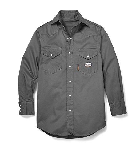 Rasco FR Gray Western Shirt with Snaps GR754 XL-REG