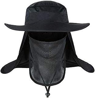 Removable Fishing Hat Jungle Cap Men & Women Windbreak Mosquito Sunbath Hat Fisherman Hat Black MZ021