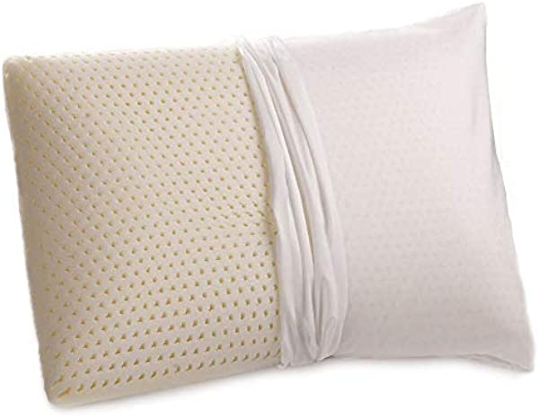 2 Pack All Natural Latex Pillow With Organic Cotton Washable Outer Covering Medium Firm