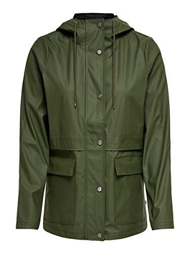 ONLY Damen ONLTRAIN Raincoat OTW Jacke, Forest Night, S