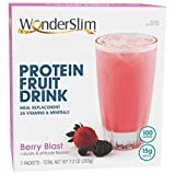 WonderSlim Low-Carb High Protein Powder Diet Fruit Drink (12g Protein) - Berry Blast (7 Servings/Box) - Low Carb, Low Calorie, Fat Free, Cholesterol Free