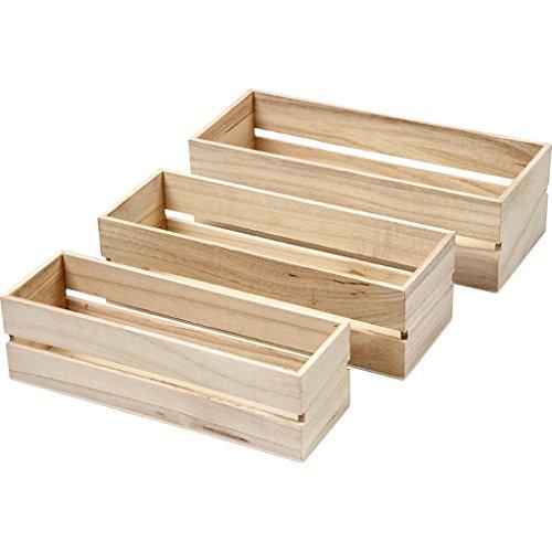 Cajas de madera, árbol del té, 3ud
