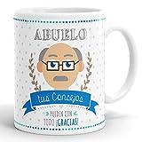 REGALOS ESTRELLA AZUL Taza Abuelo, Regalos para Abuelo Originales, Taza Desayuno Abuelos, Regalo Abuelos, Regalo para el Abuelo. (Tus Consejos)
