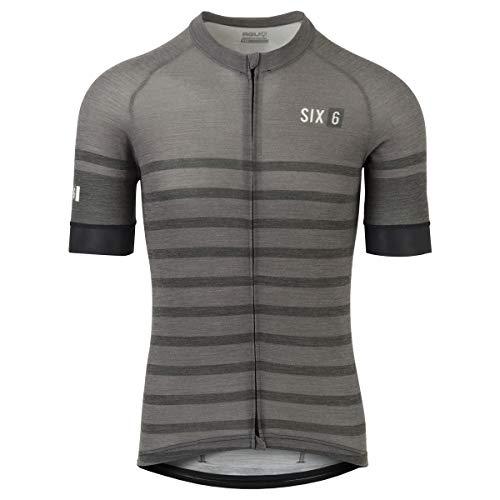 AGU Merino Stripe Trikot Six6 Herren Grau S