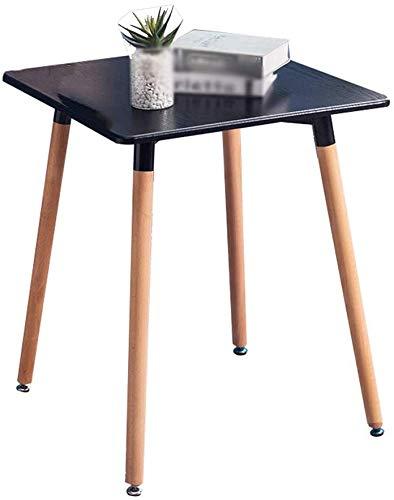 QTQZDD salontafel, dessert shop, restaurant, eettafel, vierkant, houten tafel, landelijke decoratie, multifunctioneel (kleur: C, maat: 7072 cm) 2 2