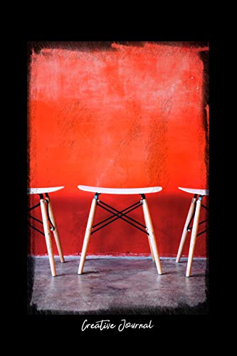 Creative Journal: Dot Grid Journal - Modern Stools Cafe Chairs Red Wall Texture Seats - black Dotted Diary, Planner, Gratitude, Writing, Travel, Goal, Bullet Notebook - 6x9 120 pages