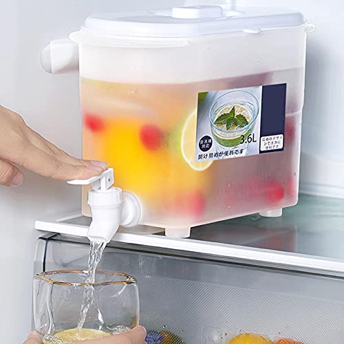 Dispensador de bebidas con grifo sin fugas | Dispensador de agua para nevera, ideal para recipientes para jarras de agua helada y jugo