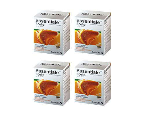 ESSENTIALE FORTE 200 capsules Liver Detox Cleanse Support Regeneration Treatment - 100% Natural and Side-Effect Free supplement - contains Soy Essential Phospholipids Non-GMO by Essentiale Forte