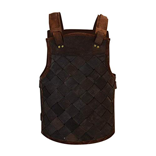Armor Venue - RFB Viking Leather Armor - Adjustable Body Armour for Men and Women Brown Large