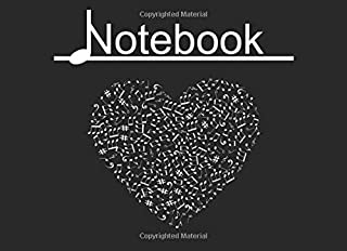 Blank Music Notebook: Smaller size (8.25