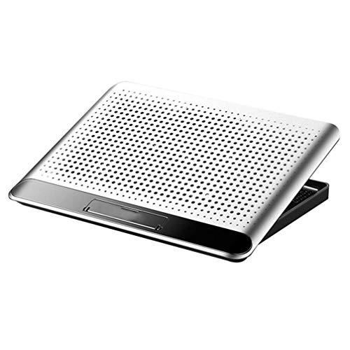 Laptop Cooling soporte Notebook Cooling Pad Silencio bases ajustables Altura ángulo del soporte portátil for la seguridad del juego (plata) ZHNGHENG