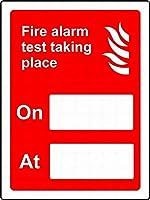 道路標識ビジネス標識8 x 12インチアルミニウム金属スズ記号Z 0796の上で行われる警告サイン火災警報テスト